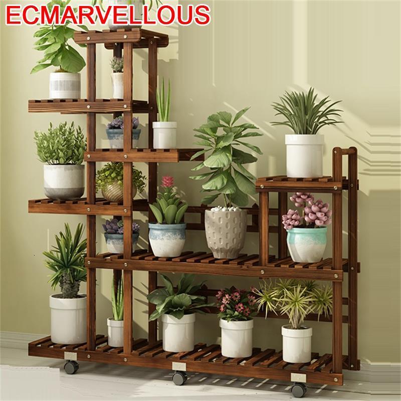 Wood Repisa Mueble Para Plantas Rak Bunga Wooden Shelves For Balcony Flower Shelf Stojak Na Kwiaty Dekoration Rack Plant Stand