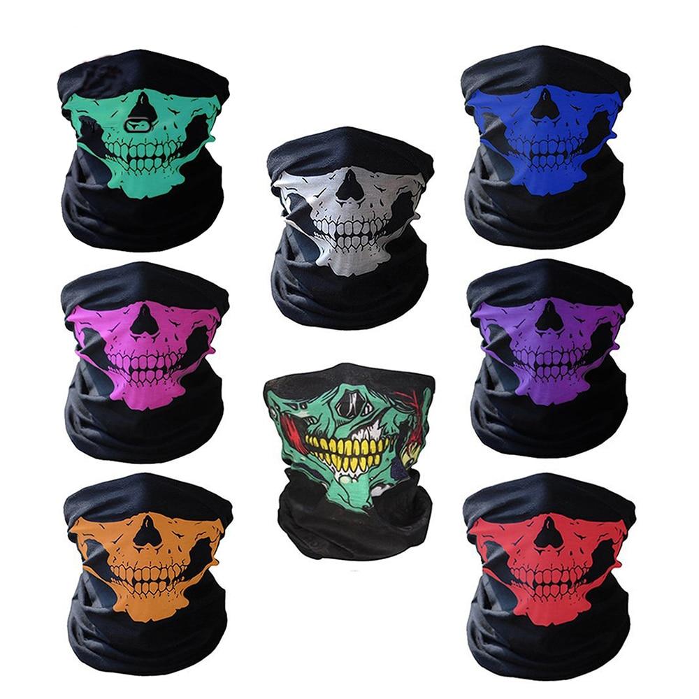 Artilady Skull Mouth Face Masks For Women Men 3D Printed Multi-purpose Mask Sports Outdoor Grim Reaper Skeleton Wristband