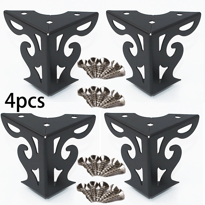 4pcs Sofa Legs Woodworking Cupboard Tea Table Metal Wooden Couch Bench Cabinet Furniture Attachment Feet