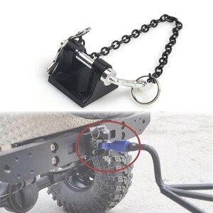 Металлическая буксировочная скоба с крючком для радиоуправляемого автомобиля 1/10 RC Crawler Axial SCX10 90046 Traxxas TRX4 TAMIYA CC01 D90 D110 запчасти для грузовико...