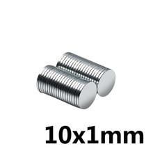 20/50/100/200/300PCS 10x1mm Dünne Neodym Starke Magnet 10mmX1mm Permanent magnet 10x1mm Leistungsstarke Magnet Runde Magnet 10*1
