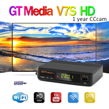 satellite receiver Gtmedia V7S HD 1080P + USB WIFI + free 1 Year Cccam server for all europe Satellite Decoder support YouTube