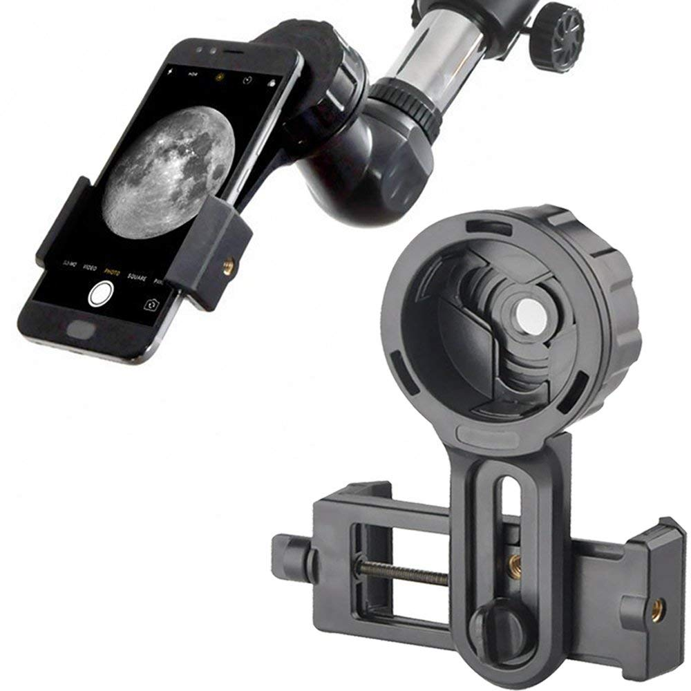 Telescope Adapter Holder Binoculars Mount Support Mobile Phone 55-98mm Width For IPhone Huawei