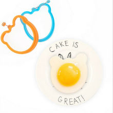 1PC Silicone Fried Egg Pancake Ring Omelette Fried Eggs Round Heart Shaped Eggs Mould for Cooking Breakfast Frying Tools OK round shaper eggs mould for cooking breakfast frying pan oven kitchen new silicone fried egg pancake ring omelette fried egg
