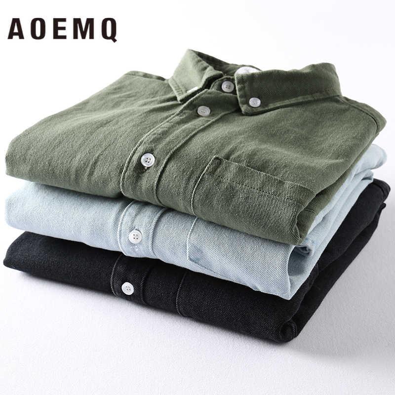 AOEMQ Sport 3 Farben Feste Beiläufige Tuch Jacken Herbst Männer Shirts Unisex High Street Jacken Strickjacke Männer Jacken Kleidung