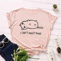 Plus Größe S-5XL Neue Reizende Katze Brief Drucken T Shirt Frauen 100% Baumwolle O Hals Kurzarm Sommer T-Shirt Tops casual T-shirt