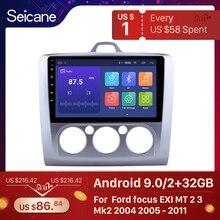 Seicane 9 Inch Android 9.0 Autoradio Voor Ford Focus Exi Mt 2 3 Mk2 2004 2005 2006 2007 2008 2009 2011 2Din Gps Multimedia Speler