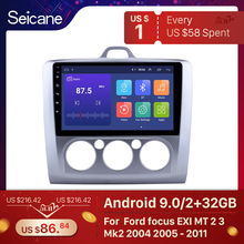 Seicane 9 inch Android 9.0 Car Radio For ford focus EXI MT 2 3 Mk2 2004 2005 2006 2007 2008 2009 2011 2Din GPS Multimedia Player
