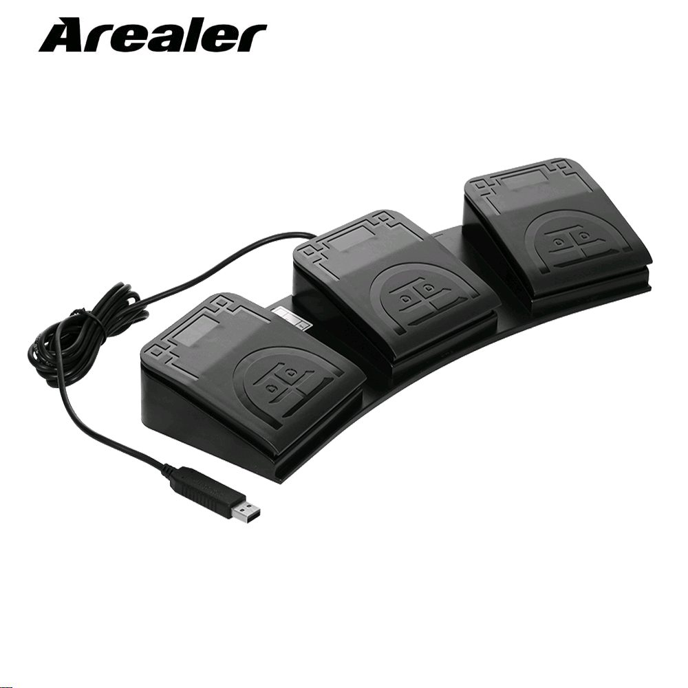 Action-Pedal Computers Mouse Control-Key Triple-Foot-Switch Office USB for Medical-Devices