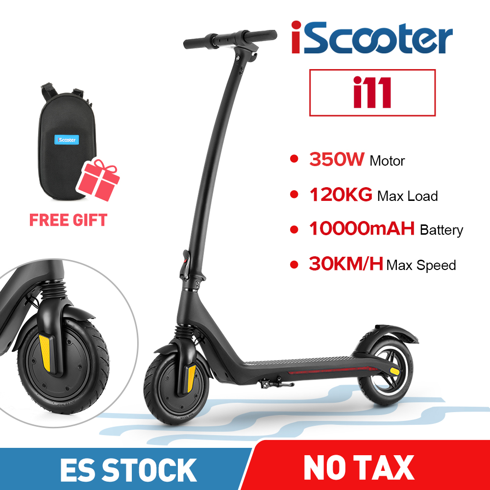 iScooter 8.5 Inch Electric Scooter 350W 30 Km/H Kick Scooter 35Km Long Range Battery 36V Adult Electric Folding Scooter With App