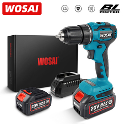 WOSAI MT-Series 20V Electric Brushless Drill Cordless Screwdriver 50NM Drill Machine 4.0Ah Battery Power Tools