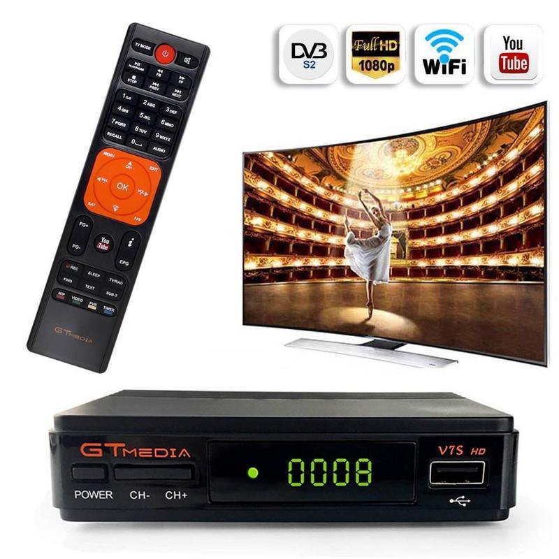Satellite TV Receiver Gtmedia V7S HD Full 1080P Receptor Support Europe Cline For Spain DVB-S2 Satellite Decoder Freesat V7 HD