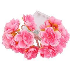 الجدة الزخرفية الزهور الصناعية سلسلة الجنية أضواء الأزهار بطارية تعمل حفل زفاف زينة المنزل عيد الميلاد