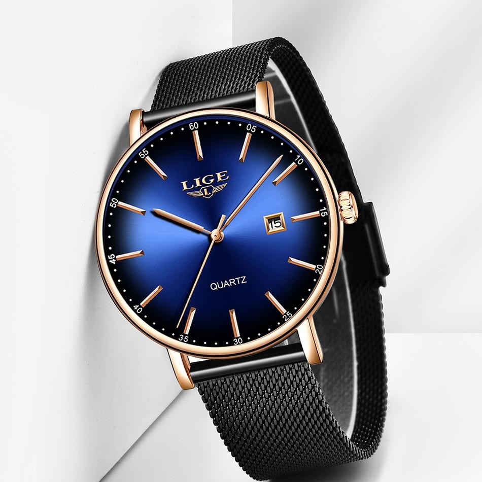 H8d1a501ca13b40f6b4bfc658b2516203S LIGE Fashion Mens Watches Top Brand Luxury Blue Waterproof Watches Ultra Thin Date Simple Casual Quartz Watch Men Sports Clock