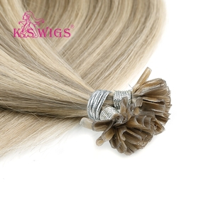 Image 5 - K.S WIGS 16 0.8g/s Real Remy Nail U Tip Hair Extension Pre bonded Keratin Capsule Double Drawn Straight Fusion Hair