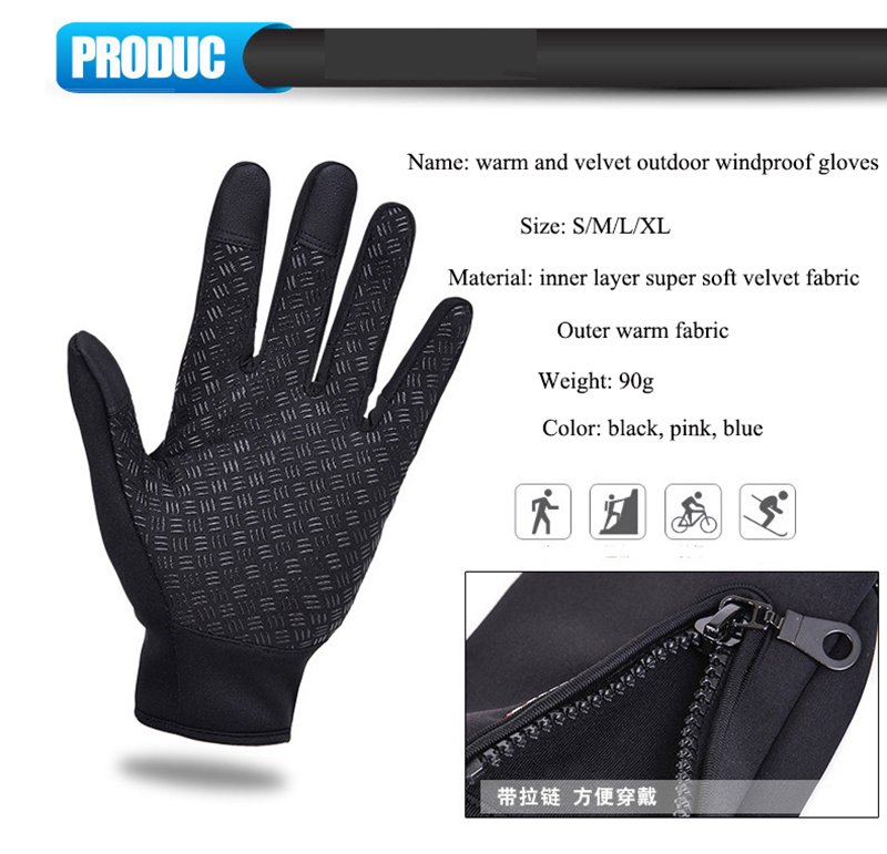 Unisex Touchscreen Winter Thermal Warm Cycling Bicycle Bike Ski Outdoor Camping Hiking Motorcycle Gloves Sports Full Finger (2)