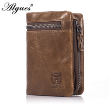 Men's Wallet Multifunctional Folding Genuine Leather Handmade Driver's License Holders Solid Color Male Clutch Bag Sequins brown leather look solid color clutch bag