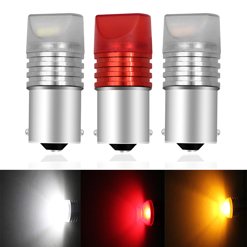 2pcs Car Accessories Flash <font><b>PY21W</b></font> <font><b>LED</b></font> <font><b>Bulb</b></font> 1156 BAU15S COB <font><b>LED</b></font> Silicone Turn Signal Tail Parking Reversing Light 12V Car Styling image