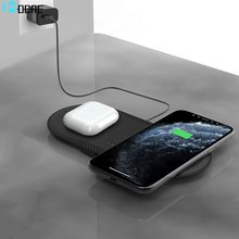 DCAE 30W Fast Dual 2 in 1 Wireless Charger Pad for Airpods Pro iPhone 12 11 Pro Max XR XS X 8 QI Induction Charging Dock Station