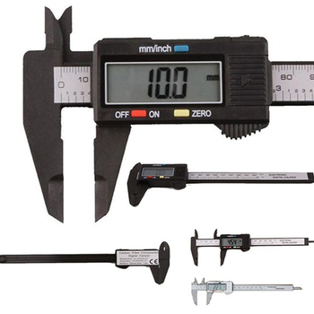 цена на Vernier Caliper 0-150mm 6 inch Measuring Tool Plastic LCD Digital Electronic Carbon Fiber Ruler Gauge Micrometer  Measuring Tool