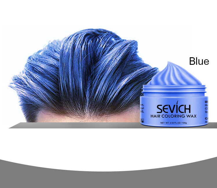 Hair - Sevich Temporary Hair Color Wax Men Diy Mud One-time Molding Paste Dye Cream Hair Gel for Hair Coloring Styling Silver Grey 120g