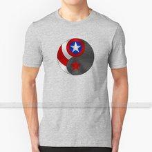 Camiseta de inverno dos homens da camiseta de yin yang da cópia 3d da parte superior do verão em torno do pescoço camisas femininas steve rogers bucky barnes stucky yin yang cinza