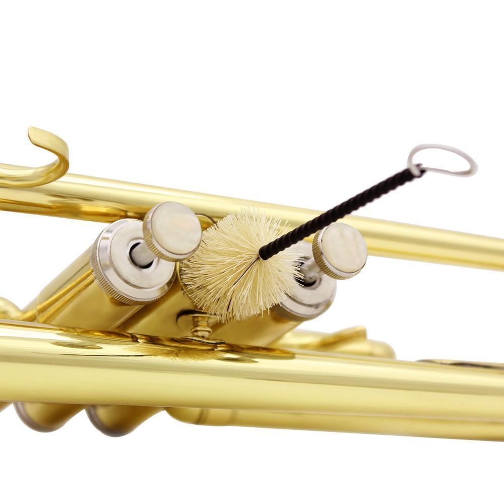 2pcs/pack Brasswind Musical Instrument Cleaning Brush Set Tool Tuba Trombone Sousaphone Mellophone Horn Cornet Accessories