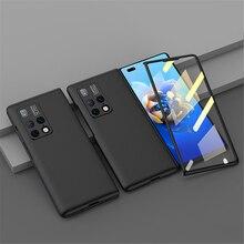 Custodia per telefono PC schermo pieghevole sottile Cover posteriore protettiva custodia tinta unita All inclusive per Huawei MATE X2