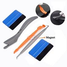 EHDIS Carbon Faser Vinyl Auto Wrap Werkzeuge Set Magnet Rakel Schaber Messer Magnetische Aufkleber Wrapping Werkzeug Fenster Tönung Film Cutter