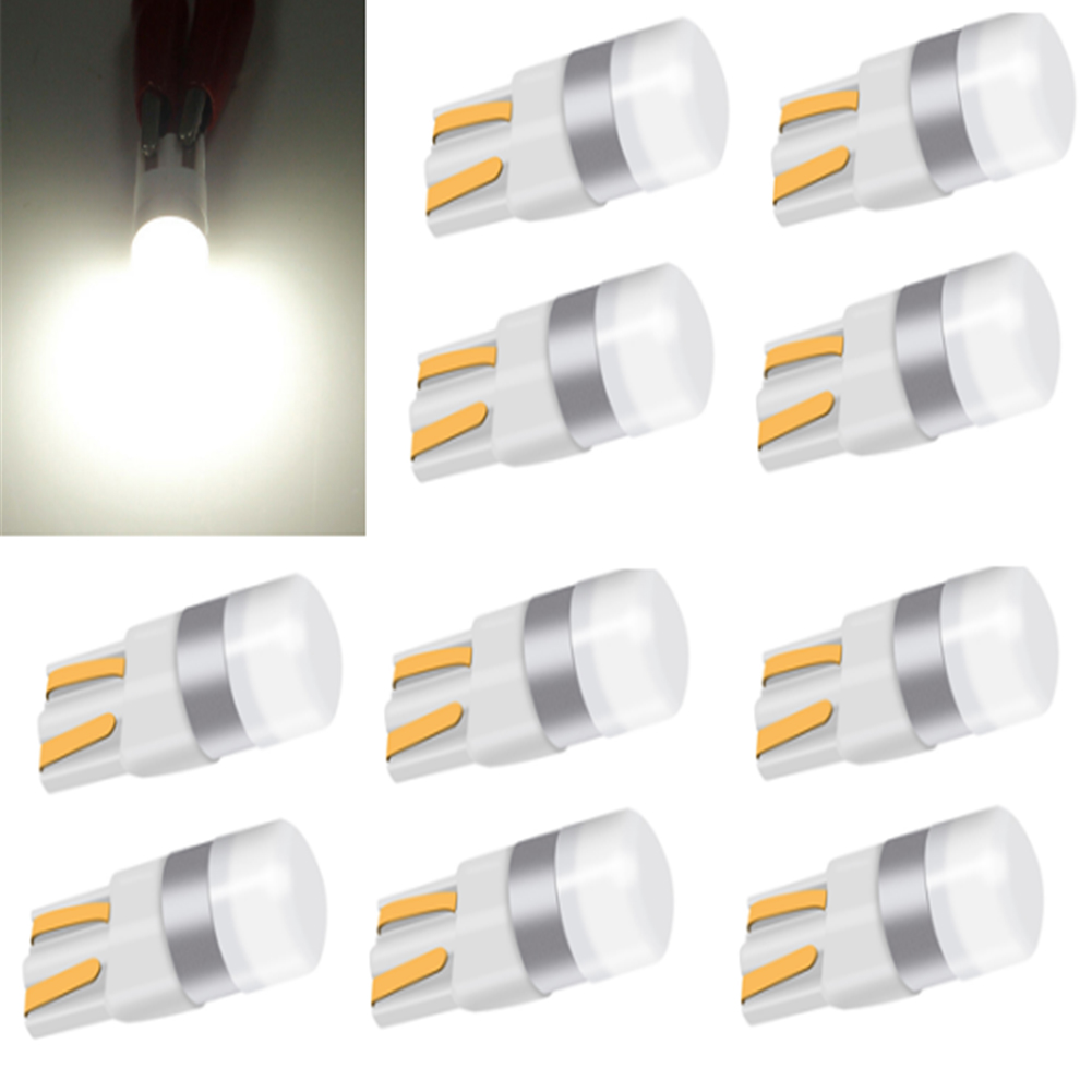 <font><b>10PCS</b></font> Car <font><b>T10</b></font> Led <font><b>Canbus</b></font> W5W 3030 Led Bulbs Clearance Wedge Parking Lights Interior Dome Light Reading Lamp Bulb 12V White image