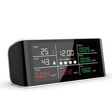 Портативный счетчик CO2 DM69, многофункциональный инфракрасный детектор температуры и влажности, PM2.5, PM10, HCHO, TOVC