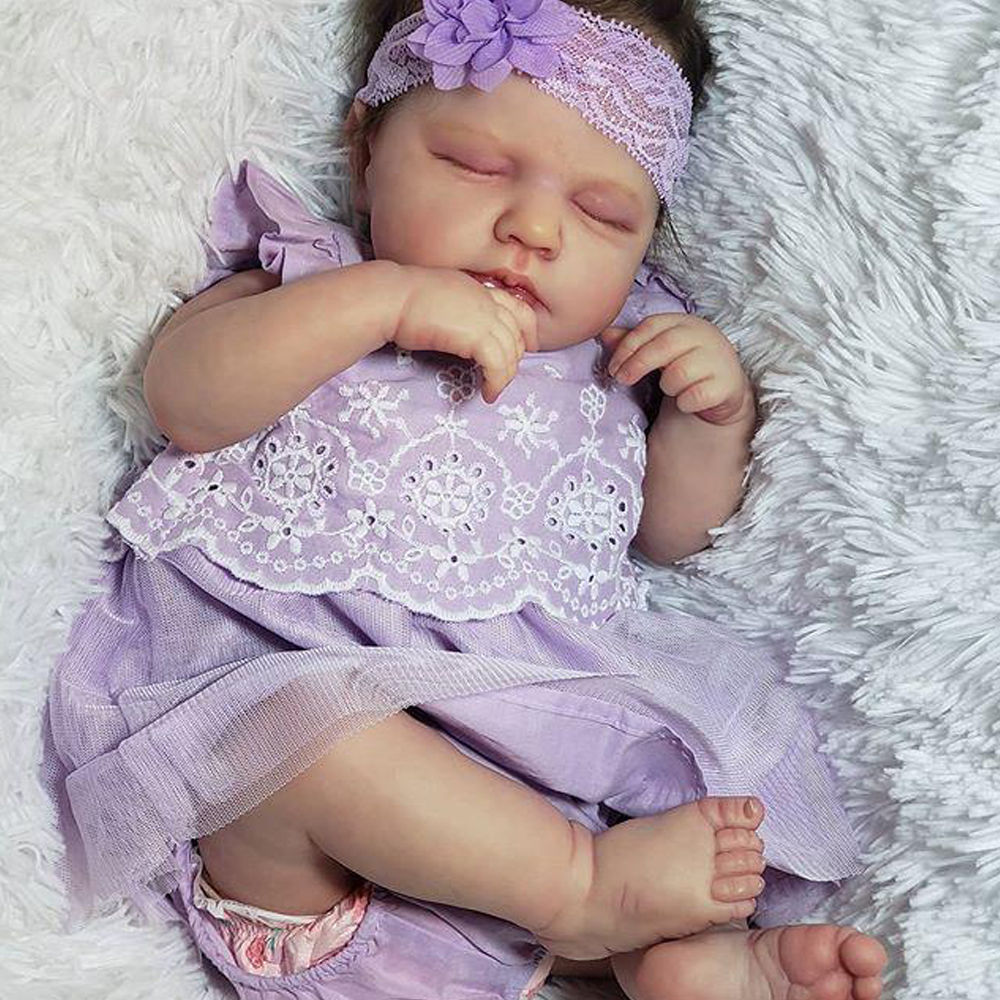 RBG- 20 Zoll LouLou DIY Blank Kits Reborn Baby Puppe Lebensechte Vinyl Unlackiert Überraschung der Mutter Tag Geschenk Puppen für Mädchen LOL