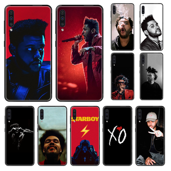 Singer Weeknd XO Phone case For Samsung Galaxy A 3 5 8 9 10 20 30 40 50 70 E S Plus 2016 2017 2018 2019 black silicone coque image