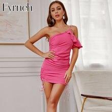 Сексуальное женское летнее платье fyrneh на одно плечо с открытой