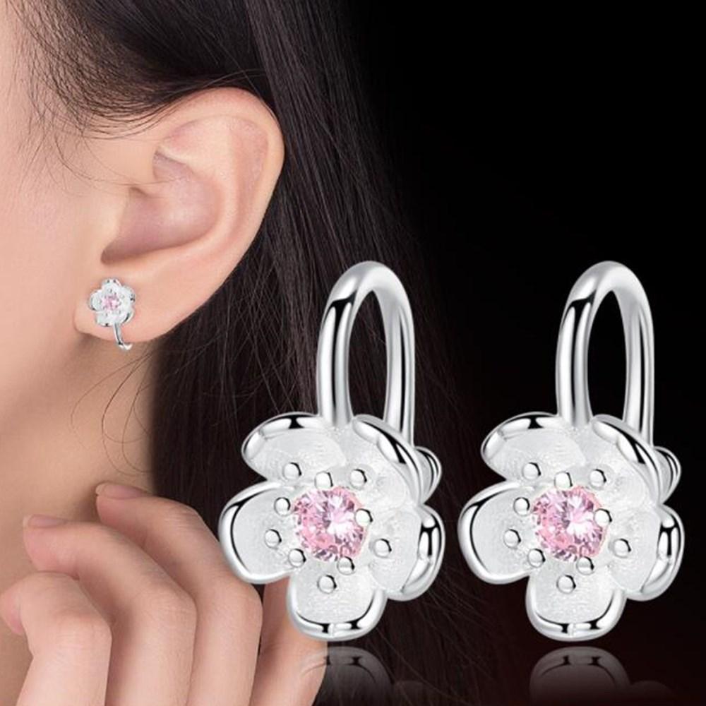 NEHZY 925 sterling silver new Jewelry High Quality Fashion Woman Earring Retro Flower Cube Zirconia Long Tassel Hanging Earrings