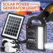 Solar Power Generator 3 LED Bulbs Home System Solar Power Panel Storage Generators Durable USB Charger 110-220V 50/60Hz(China)