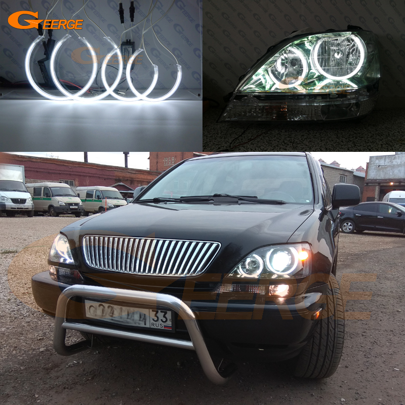 For Toyota Harrier 1997 <font><b>1998</b></font> 1999 2000 2001 2002 <font><b>2003</b></font> Excellent Ultra bright illumination CCFL Angel Eyes kit halo rings image