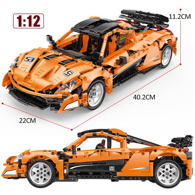 1:12 City Technic App RC/non-RC Motor Sports Car Building Blocks The MOC McLaren P1 SuperCar Racing Vehicle Bricks Toys For Kids