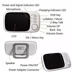 Image 5 - ワイヤレスビデオカラーベビーモニターと 3.2 インチ液晶 2 ウェイオーディオトークナイトビジョン監視セキュリティカメラベビーシッター VB603