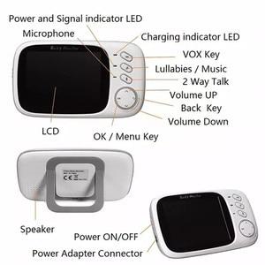 Image 5 - VB603 baby monitor 2.4GHz 3.2inch LCD Display Wireless babyfoon Monitor Night Vision Temperature Monitoring XF808 3.5inch camera