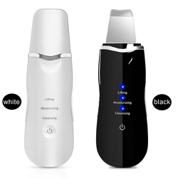 Limpiador de piel ultrasónico limpiador de cara profunda limpiador Facial vibrador espátula de la piel Peeling dispositivo de belleza