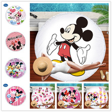 Diseny Mickey Minnie Cute Cartoon Microfiber Beach Towel Sport Blanket Swimming Bath Children Gift Vacation