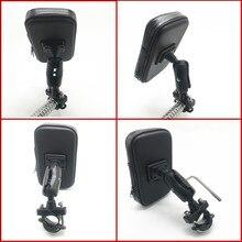 Motorfiets Mobiele Telefoon Mount Houder met Waterdichte Rits Case Stuur Rail Mount Houder Case voor iPhone 7/X, galaxy S9 Plus