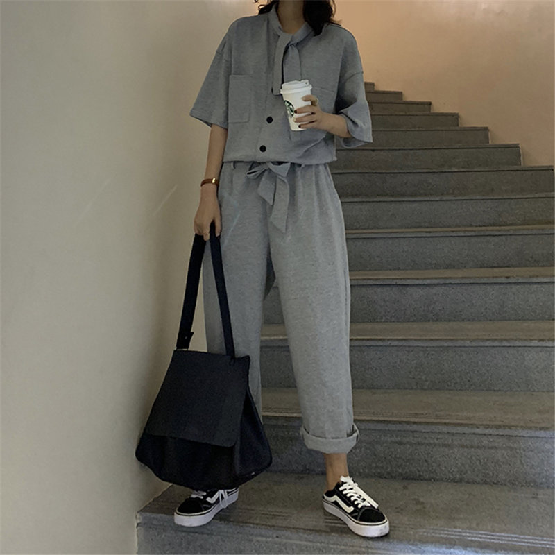 Alien Kitty 2020 Casual Women Jumpsuit Leisure High Quality Sports Solid Loose Vintage Short Sleeves Fashion Jumpsuits Overalls