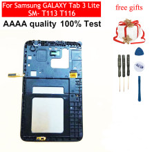 Black / White For Samsung GALAXY Tab 3 Lite SM- T113 T116 Touch Screen Sensor Digitizer Glass + LCD Display Panel With Frame(China)