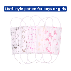 Image 2 - Shipping within 24 hours Printed 50pcs 3 layer Black Pink Boys Girls Disposable Dust Mask Face Mask Childrens Breathable  Masks