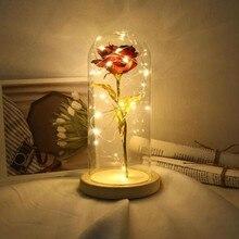 아름다움 led 장미 램프 병 책상 빛 꽃 밤 램프 로맨틱 발렌타인 데이 생일 선물 장식 짐승 배터리 구동