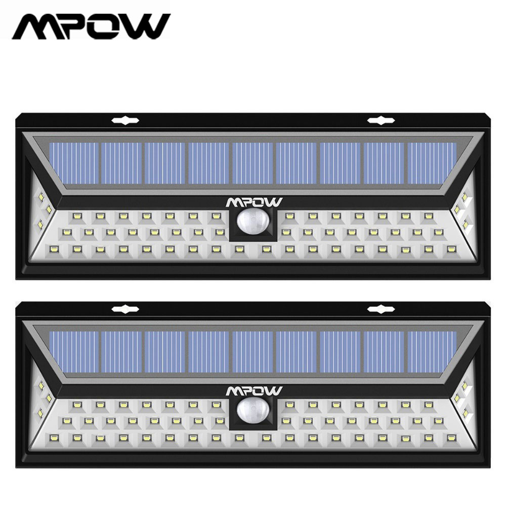 2PACK 54 LED Solar Lights Motion Sensor Wall Light Waterproof Garden Yard Lamp