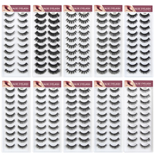 10 pairs/lot Natural Fake Lashes Long Makeup 3d Mink Extension Soft Handmade Eyelashes for beauty