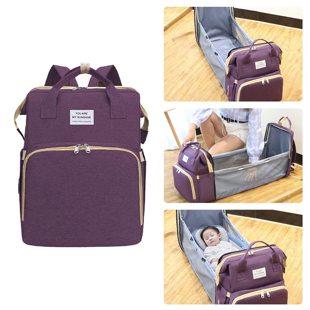 Multifunctional Baby Diaper Bag Backpack Bed Crib Baby Sleeping Bag For Travel Bed Diaper Pad Stroller Organizer Dropshipping